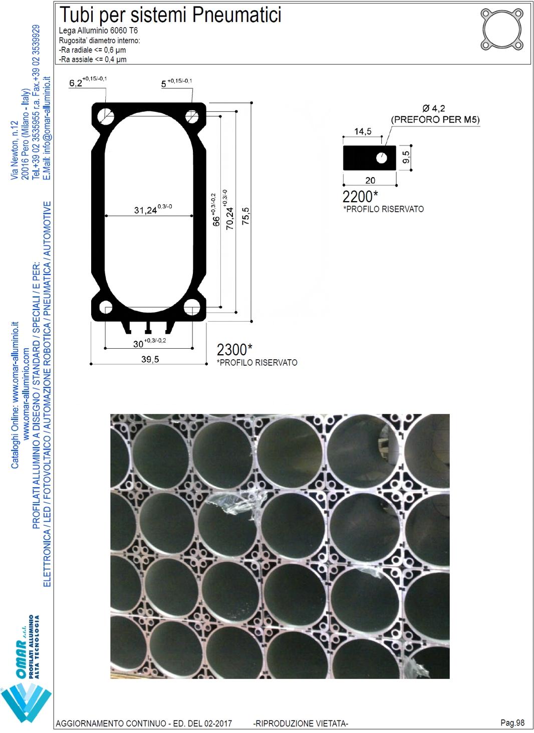 Camicie in alluminio per cilindri pneumatici canne in for Catalogo pdf